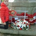 Remembrance Lewis lays our wreath